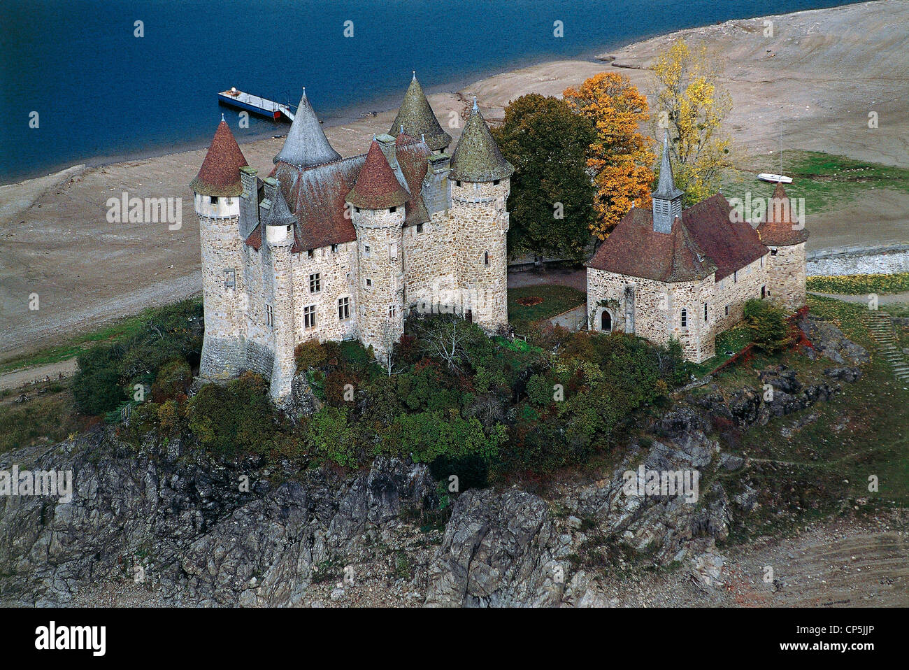 France - Auvergne - Val. Castle of the fifteenth century. - Stock Image