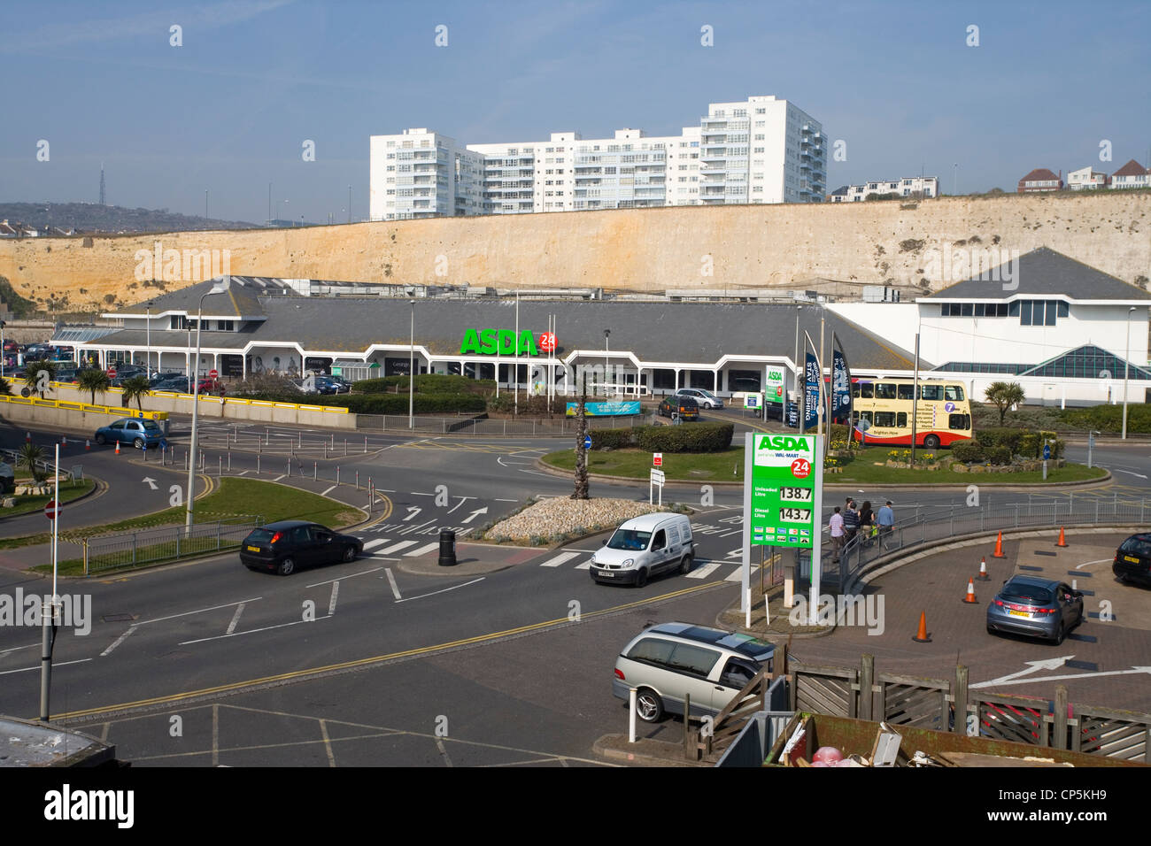asda superstore at brighton marina in east sussex - Stock Image