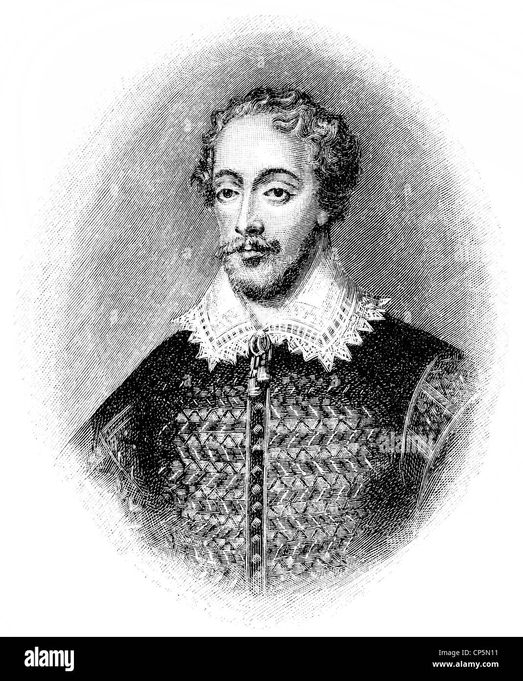Edmund Spenser, ca. 1552 - 1599, an English poet - Stock Image