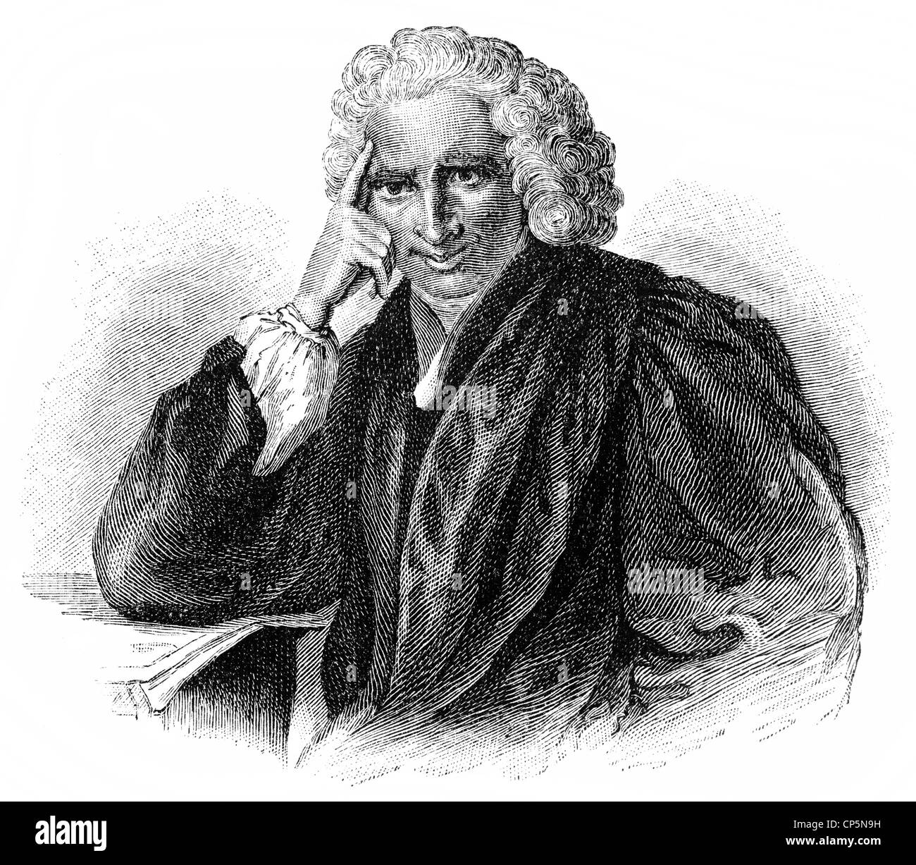 Laurence Sterne, 1713 - 1768, an English writer of the Enlightenment, - Stock Image
