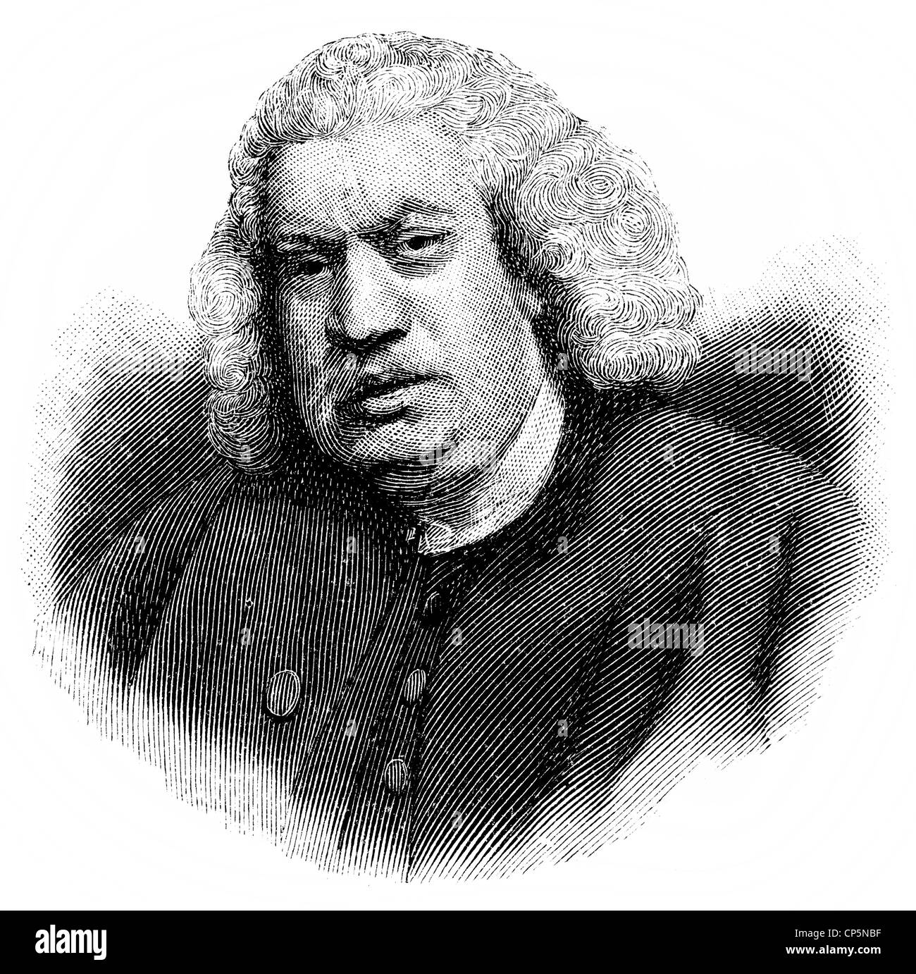 Samuel Johnson, 1709 - 1784, an English scholar, writer, poet and critic Stock Photo