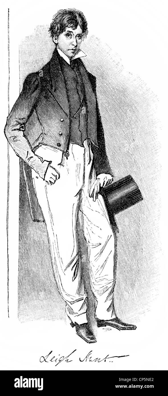 James Henry Leigh Hunt, 1784 - 1859, an English writer Stock Photo