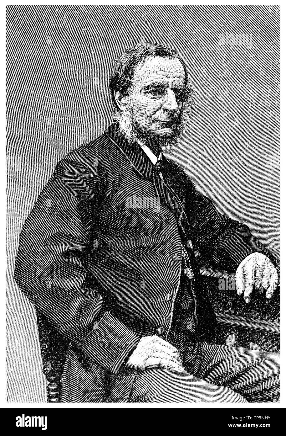 Charles Kingsley, 1819 - 1875, an English theologian and writer, - Stock Image