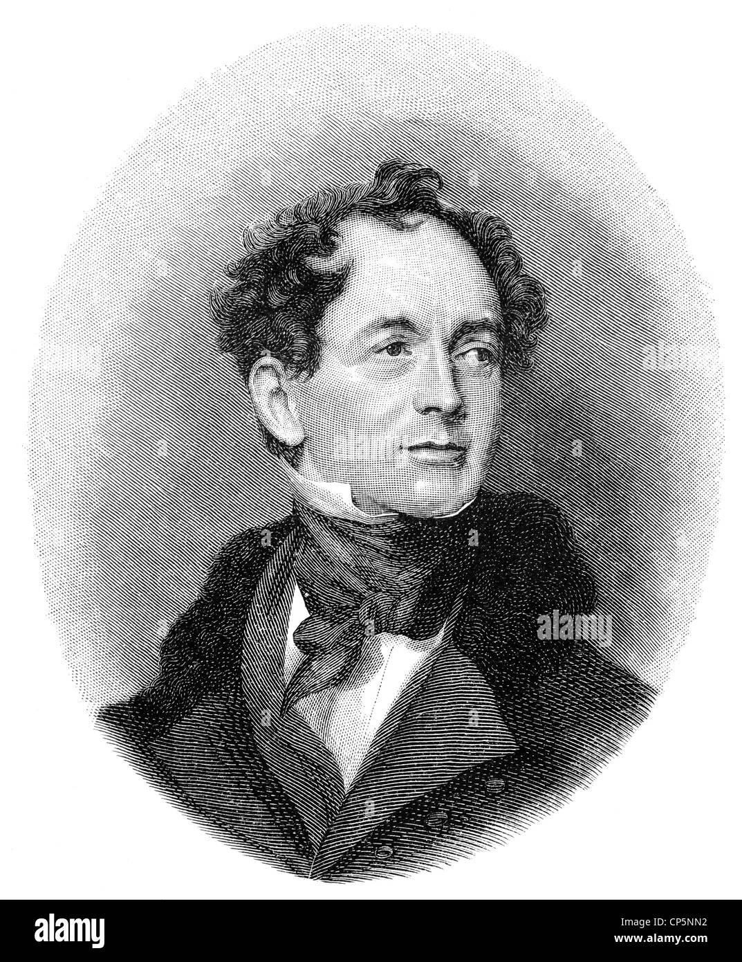 Thomas Moore, 1779 - 1852, an Irish poet, writer, translator, and ballad singer - Stock Image