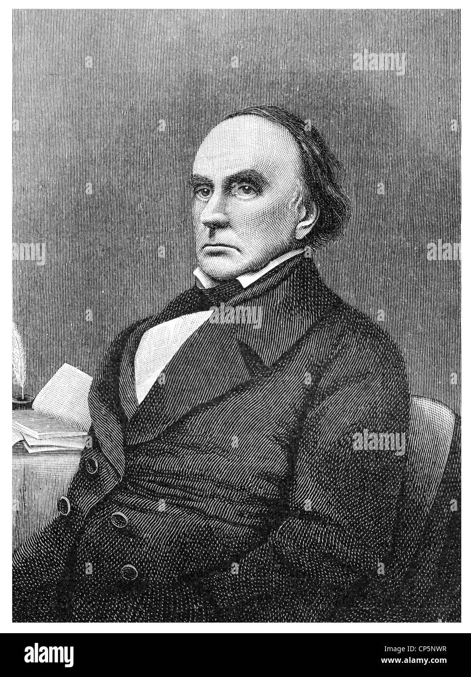 Daniel Webster, 1782 - 1852, an American statesman and jurist, - Stock Image