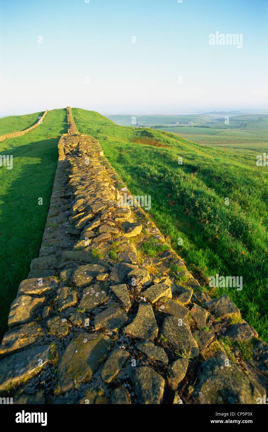 England,Northumbria,Hadrian's Wall,Views near Housesteads Roman Fort  - Stock Image