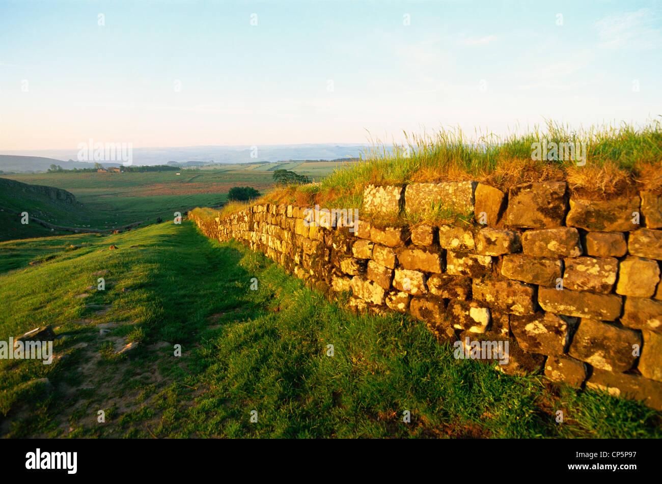 England, Northumbria, Hadrian's Wall, Views near Housesteads Roman Fort - Stock Image