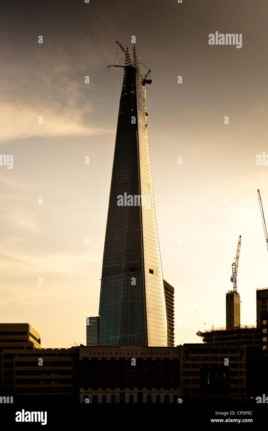 London Shard sunset city scape skyline - Stock Image