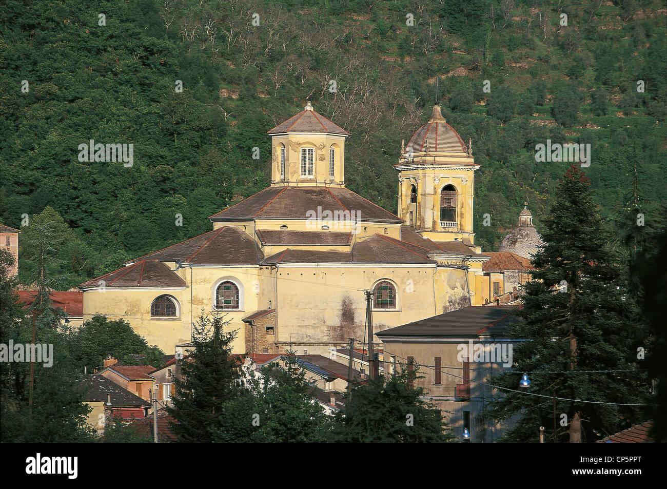 Liguria - Arroscia - Pieve di Teco (IM), Church of San Giovanni Battista (architect Gaetano Cantoni, 1782-1806) - Stock Image