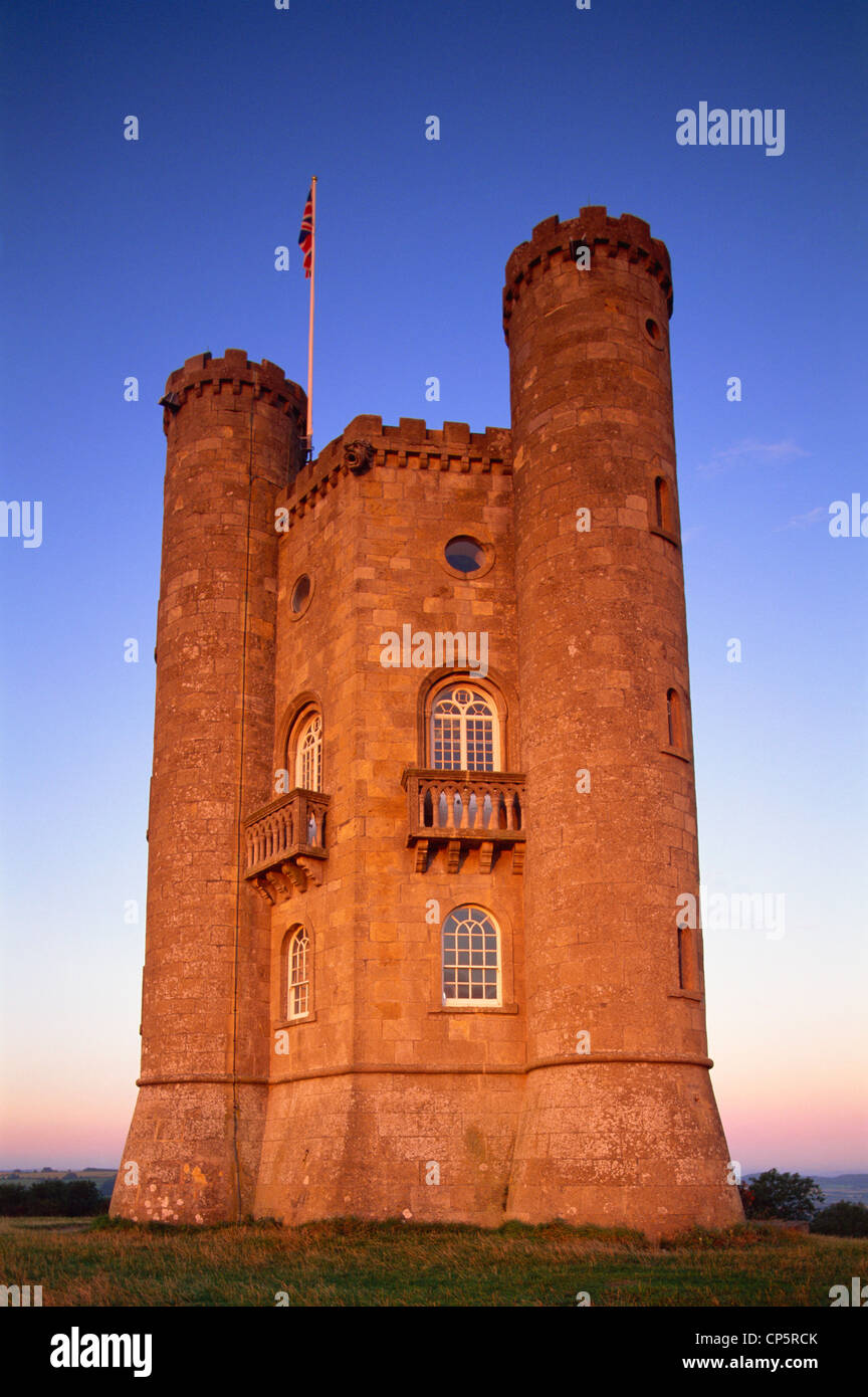 England, Worcestershire, Cotswolds, Broadway Tower Stock Photo