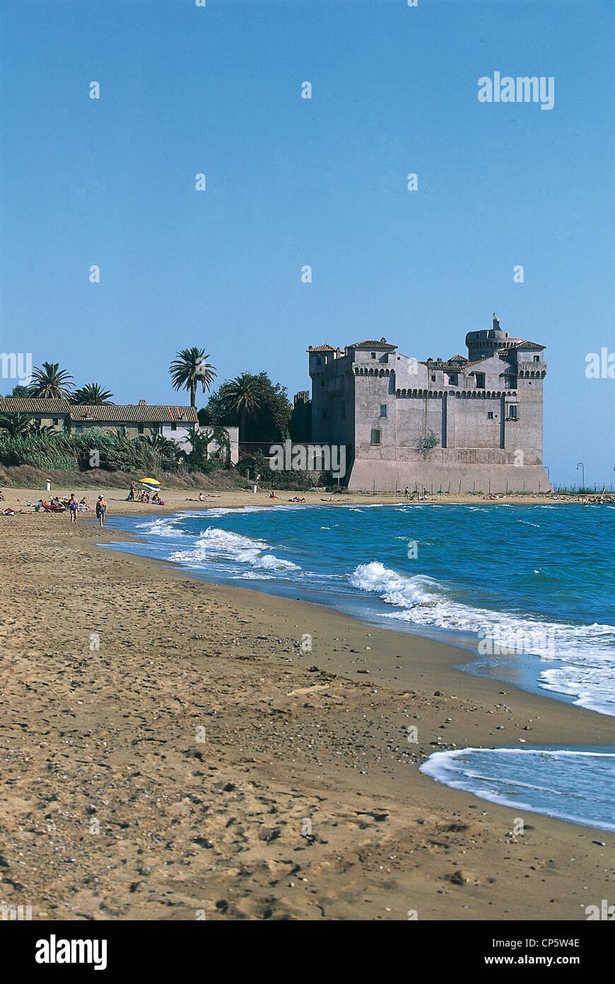 Lazio Santa Severa Santa Marinella Village Beach And Castle