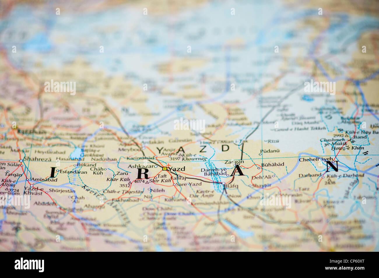 Map of Iran - Stock Image