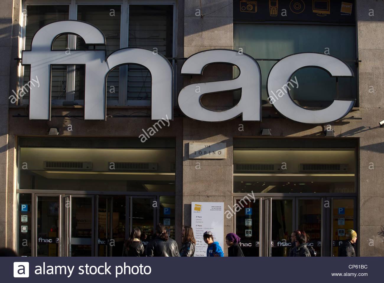 fnac,milan - Stock Image