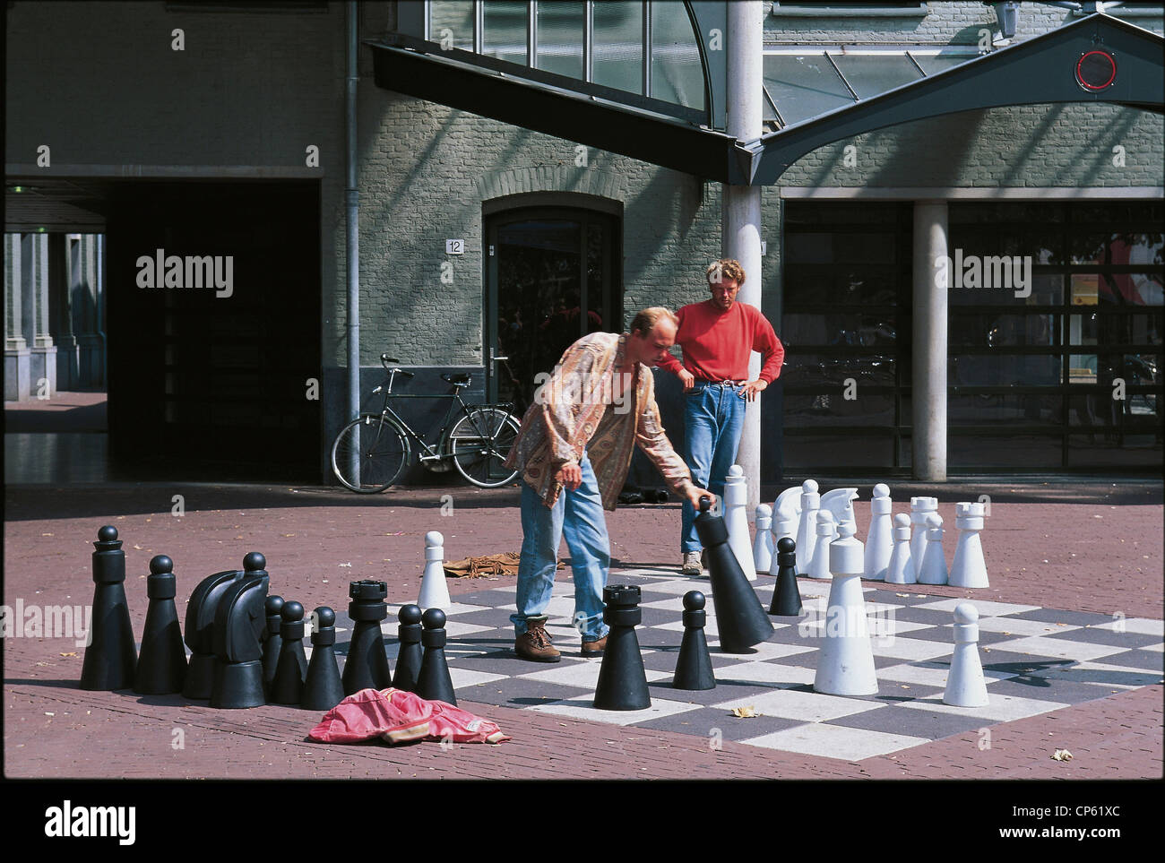 AMSTERDAM, Netherlands CHESS IN A CITY PARK - Stock Image