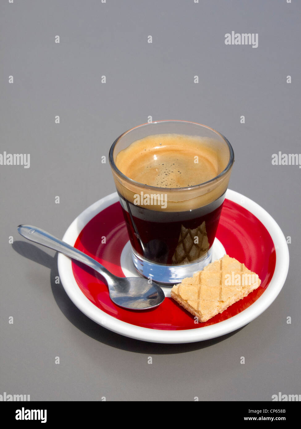 Espresso coffee cup isolated cut out - Stock Image
