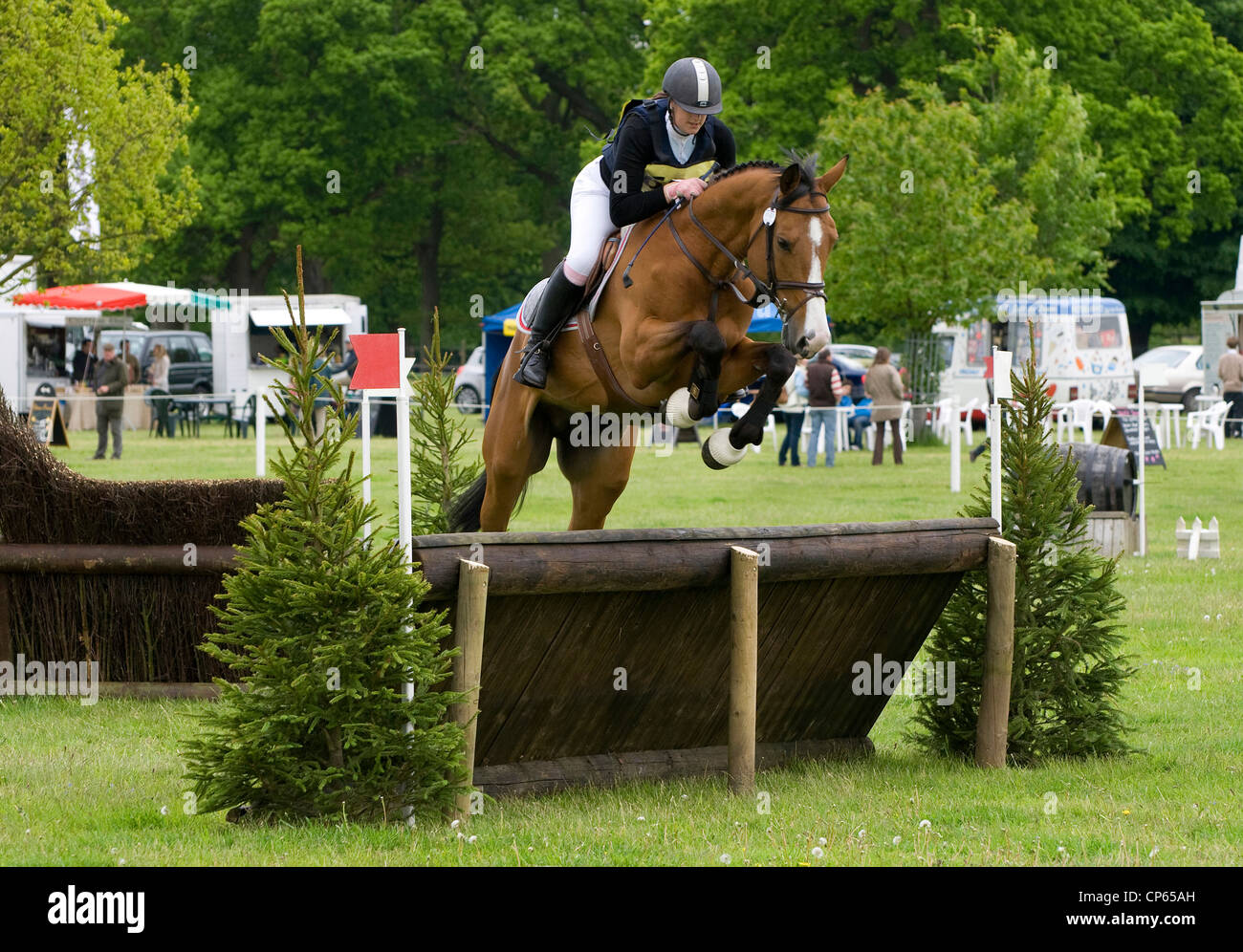 eventing at houghton hall, norfolk, england - Stock Image