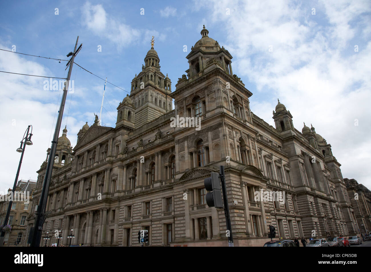 Glasgow city chambers home of the city council Scotland UK - Stock Image