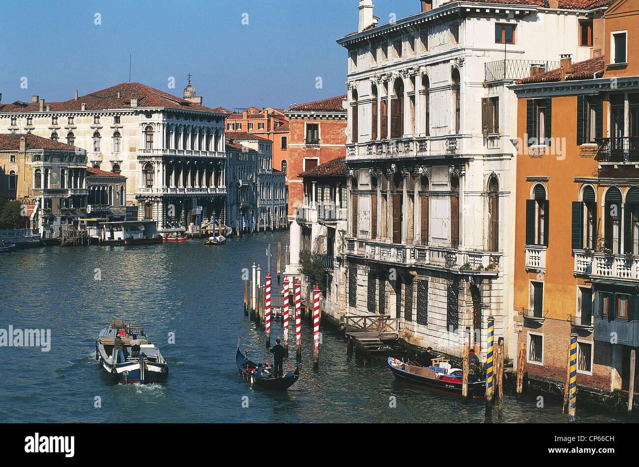 VENETO Venice Grand Canal from the Accademia Bridge - Stock Image
