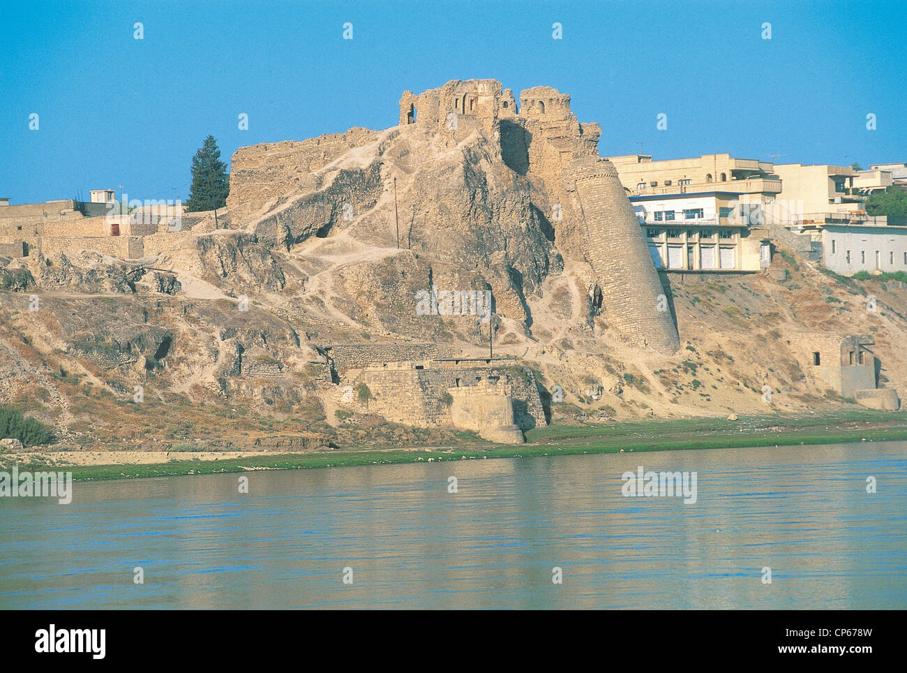 Iraq - Mosul. Fortress Taby Bash on the Tigris River. - Stock Image