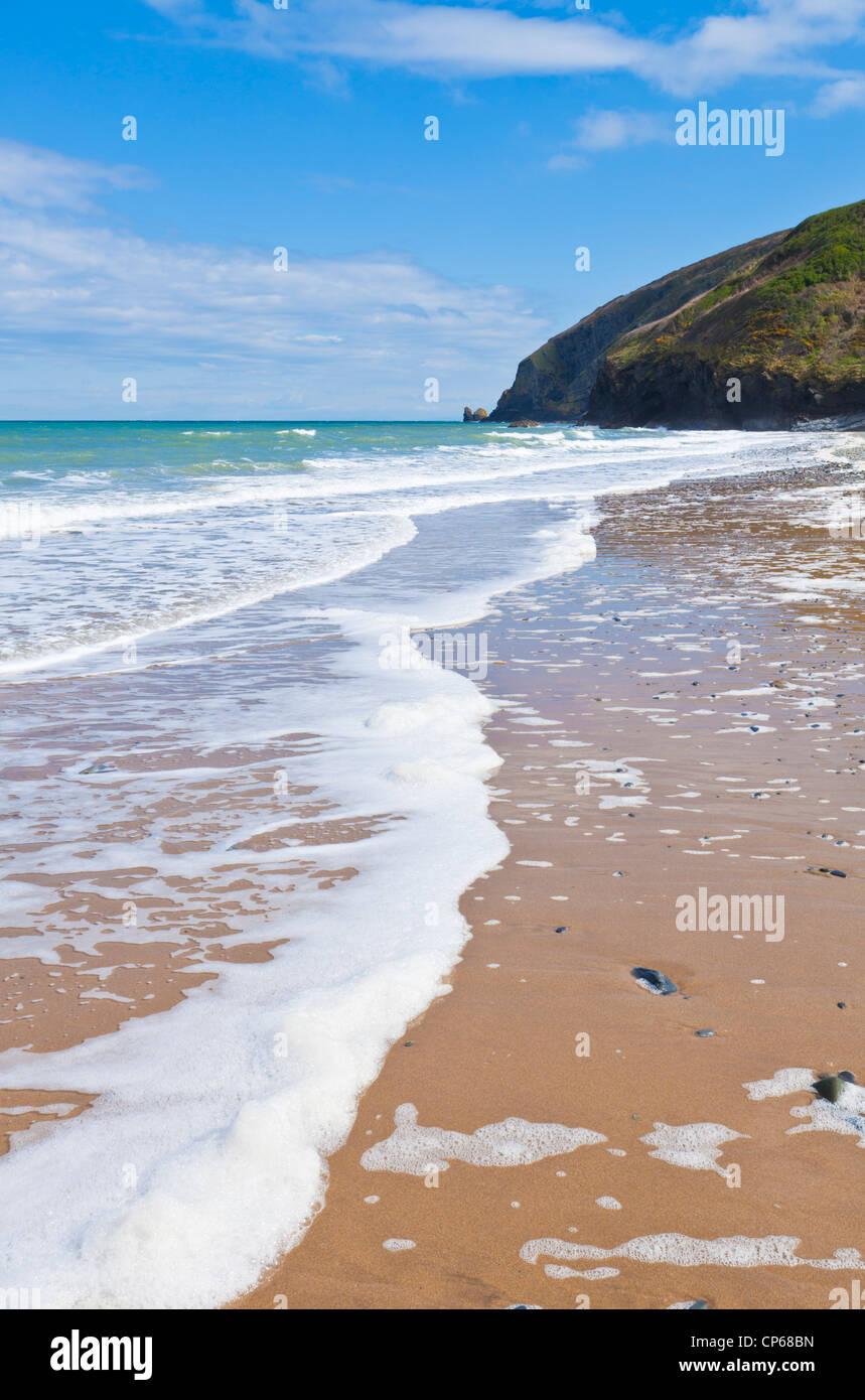 Penbryn beach Cardigan Bay Ceredigion coast West wales UK GB EU Europe - Stock Image