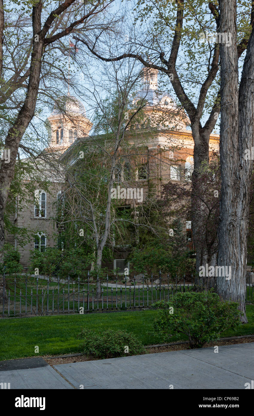 Nevada State Capitol with Annex, springtime. - Stock Image