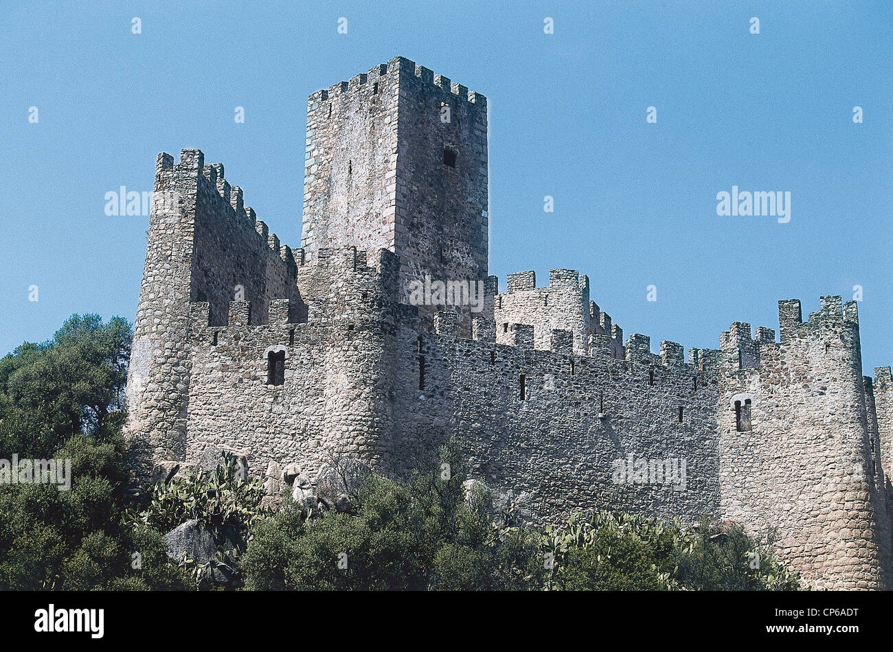 PORTUGAL Almourol THE CASTLE OF THE KNIGHTS TEMPLAR XII SEC. - Stock Image