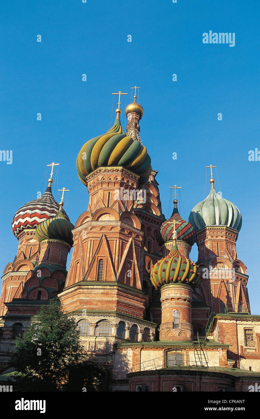 Russia Moscow St. Basil's Cathedral sec.XVI - Stock Image