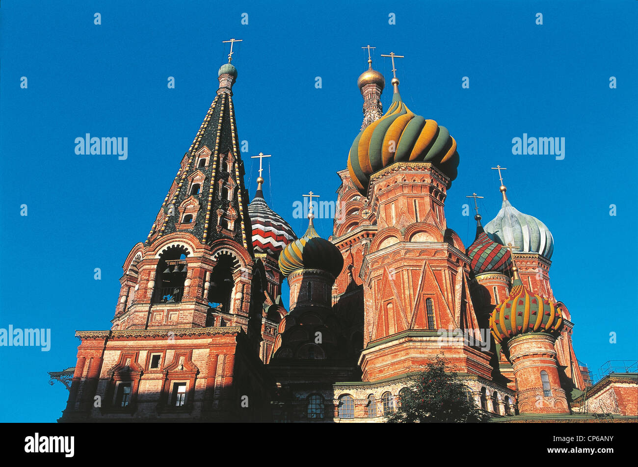 Russia Moscow St. Basil's Cathedral 1555-1561 Stock Photo
