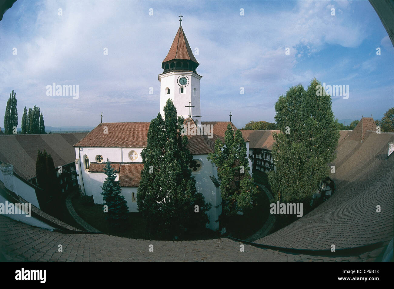 Romania - Prejmer. The fortified church, late Gothic style, the thirteenth century, surrounded by a wall 12 meters Stock Photo
