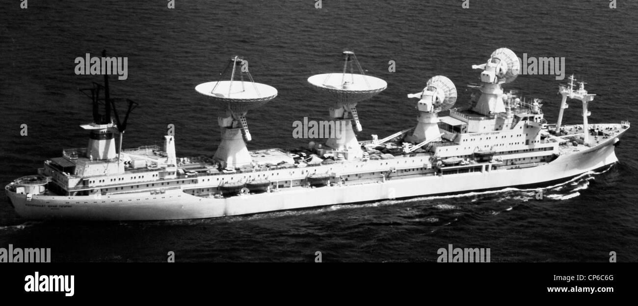 Soviet civilian space research ship SSOCS Kosmonaut Yuri Gagarin - Stock Image