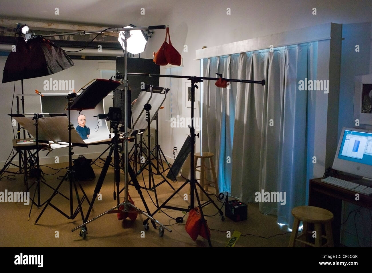 Lighting grip and camera equipment in a commercial photography lighting grip and camera equipment in a commercial photography studio aloadofball Images