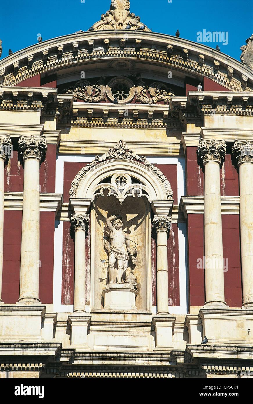 Sicily - Caltanissetta, particularly the Church of San Sebastiano. Stock Photo