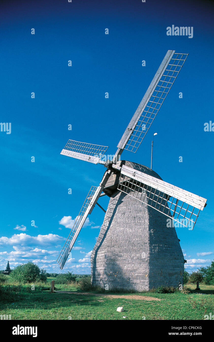 Russia, near Novgorod. Mill at the Monastery of St. George (Yuriev). - Stock Image