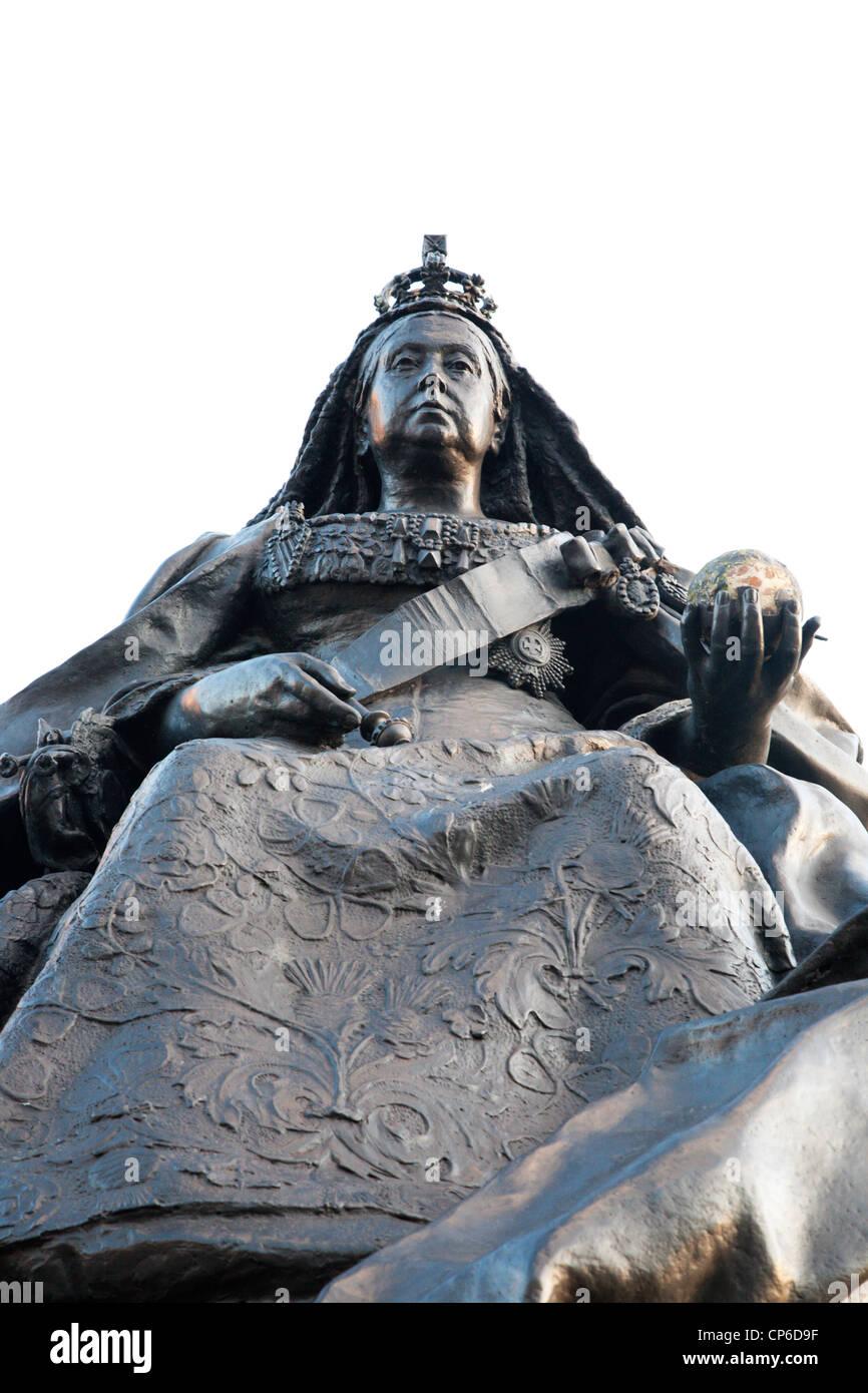 Queen Victoria Statue Albert Square Dundee Scotland - Stock Image