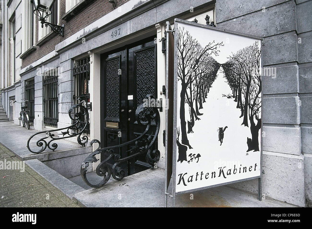 AMSTERDAM, Netherlands Heren Gracht Kattenkabinet MUSEUM OF THE CAT ENTRANCE - Stock Image