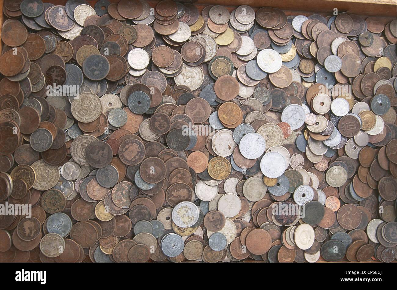 Netherlands - Netherlands - Amsterdam. Currencies at the market of philately and numismatics (Nieuwezijd voorburg - Stock Image