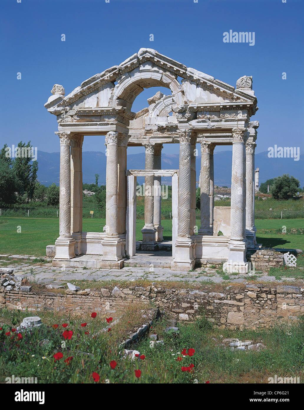 Turkey - Aphrodisias - The Tetrapylon, II century AD - Stock Image