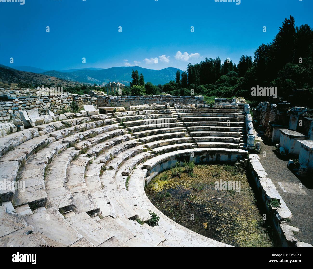 Turkey - Aphrodisias - The Odeon, II-IV century AD - Stock Image