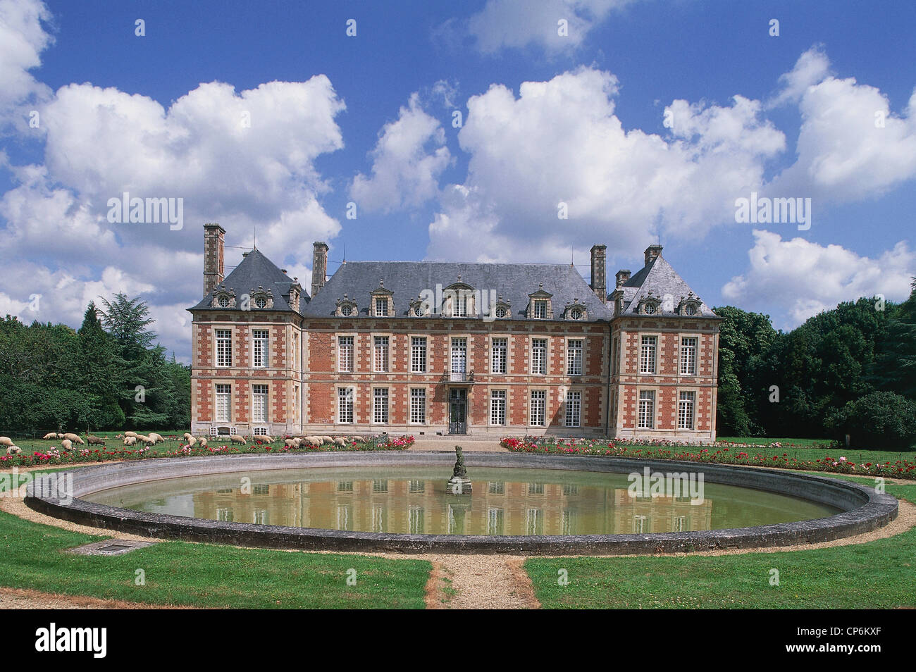 CASTLE OF FRANCE PICARDY Fayel Stock Photo
