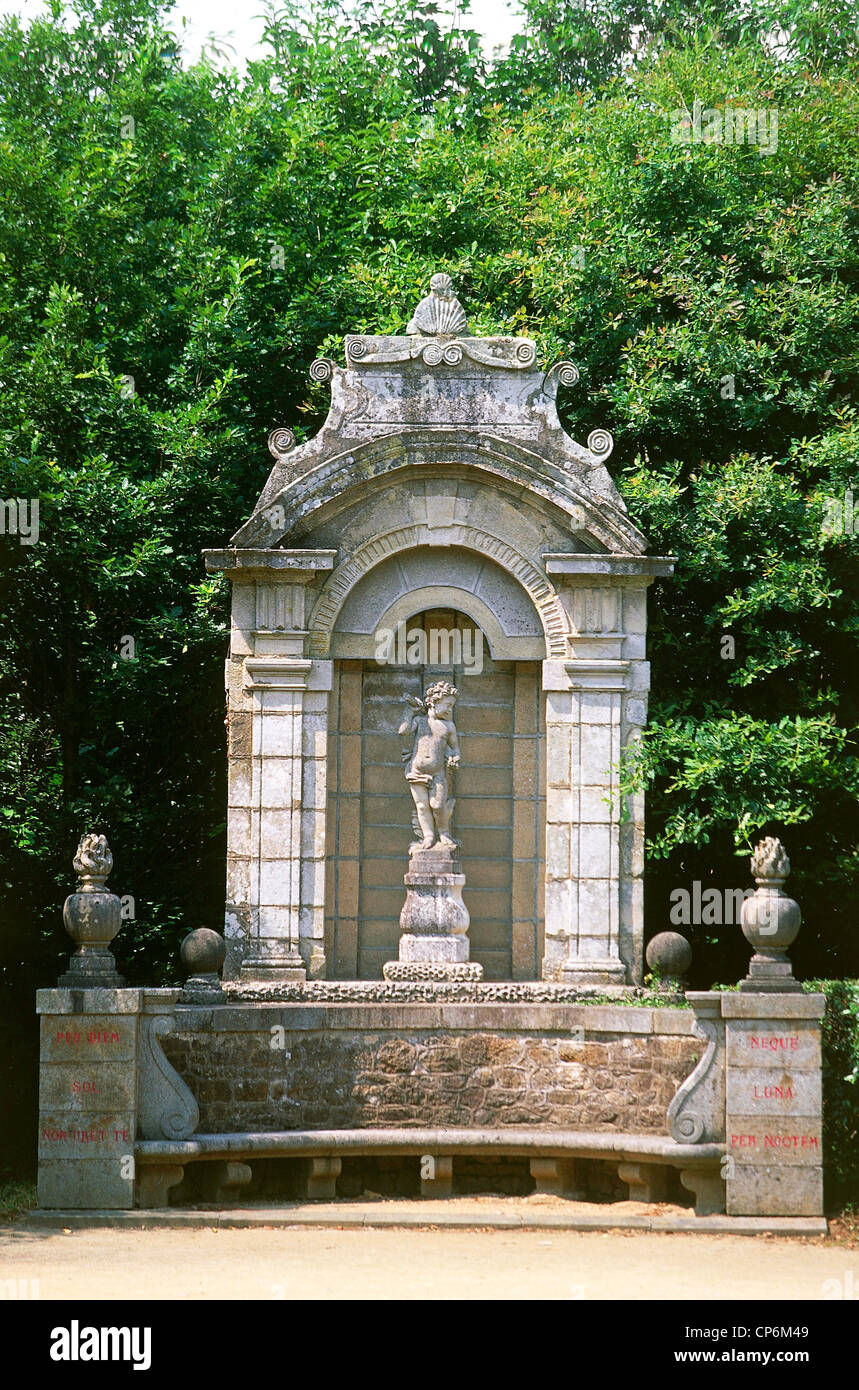 France - Britain  Castle Caradeuc  Detail of the park kiosk Stock