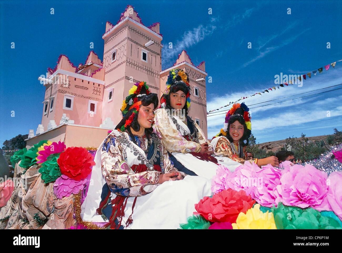 Morocco High Atlas Dades Valley El Kela M Gouna Rose Festival