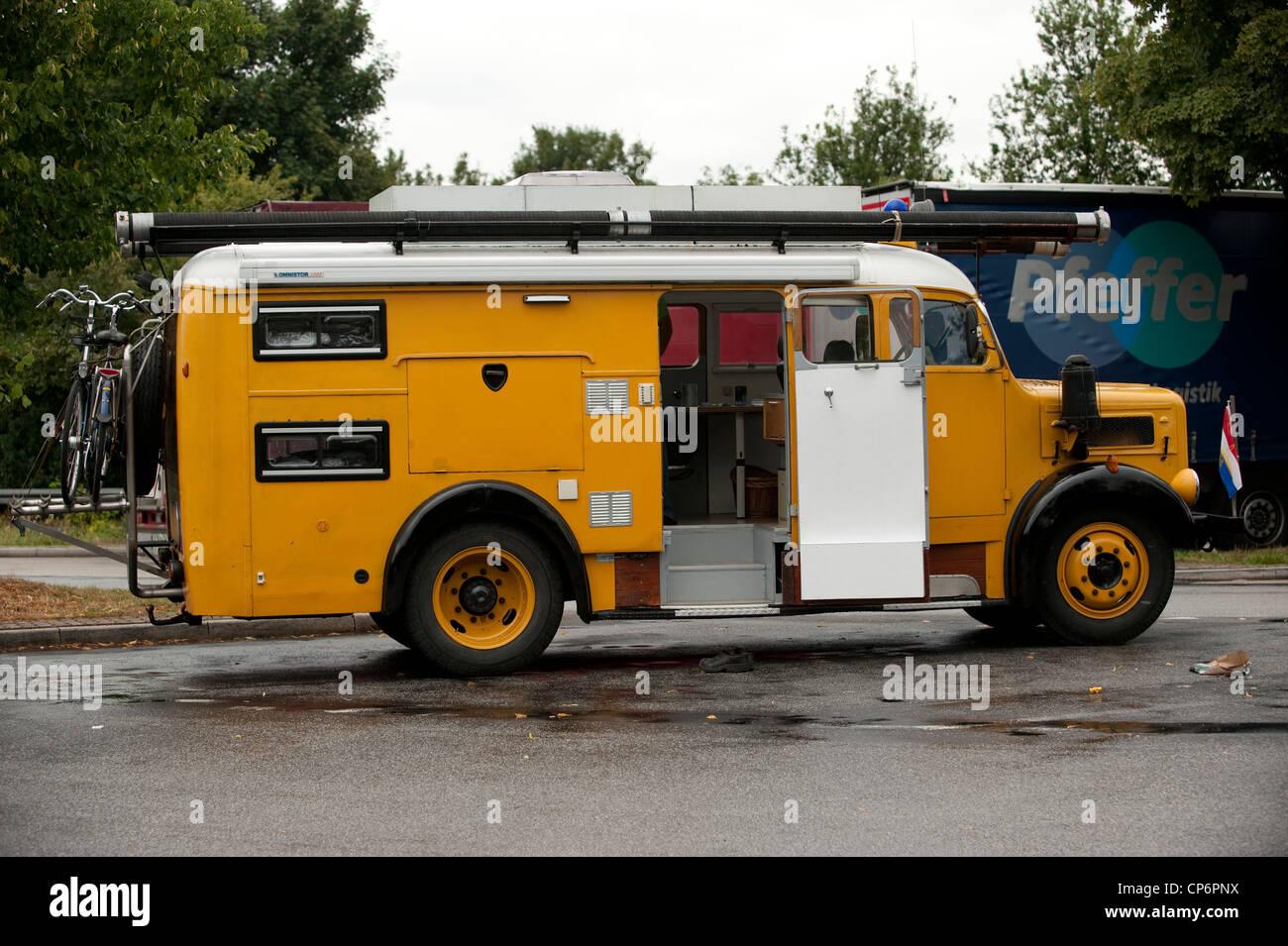 Old Fire Truck Converted to Camper Van Magirus-Deutz S 3500