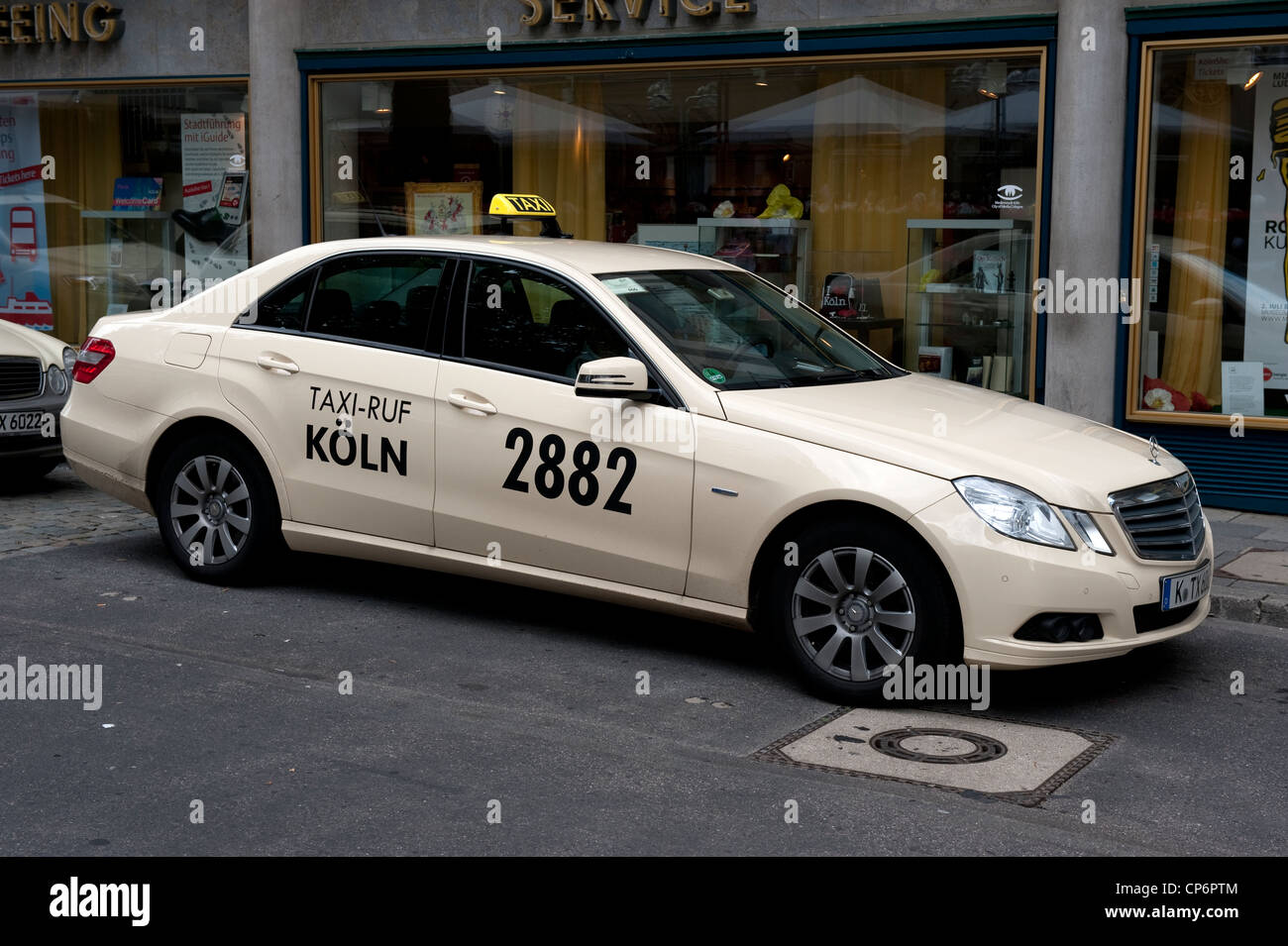 koln 2882 taxi cab mercedes car cologne germany europe eu stock photo 48092820 alamy. Black Bedroom Furniture Sets. Home Design Ideas