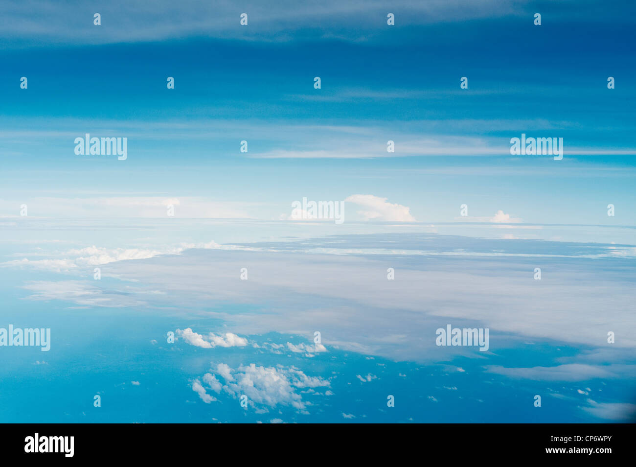 Aerial photo of clouds - Stock Image