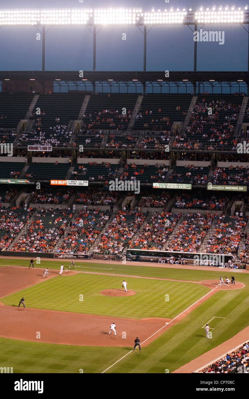 Baseball stadium - Stock Image
