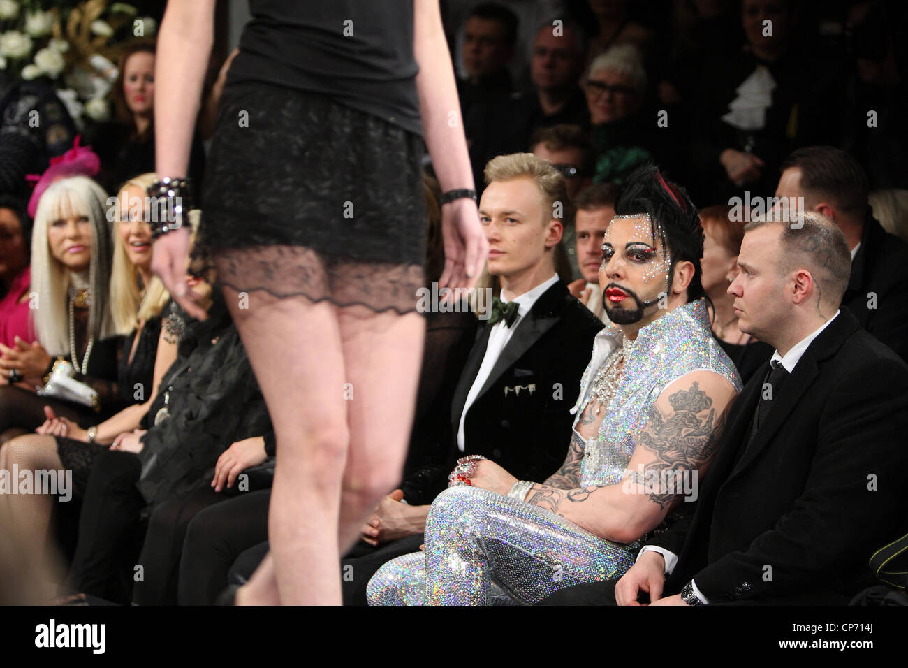 Harald Gloeoeckler, fashion designer, during presentation of his new collection, Berlin, Germany - Stock Image