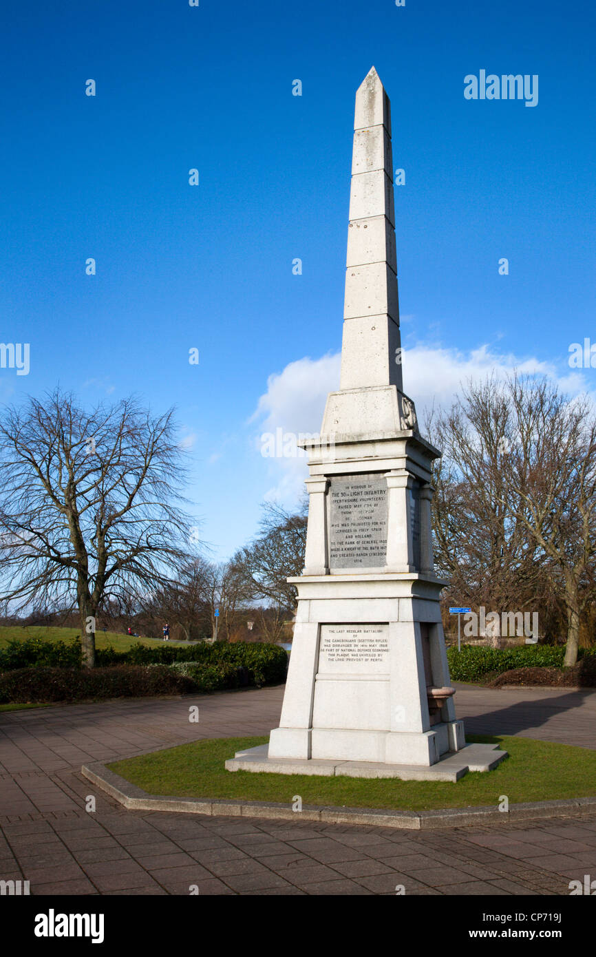 90th Light Infantry Perthshire Volunteers Memorial Perth Perth and Kinross Scotland - Stock Image