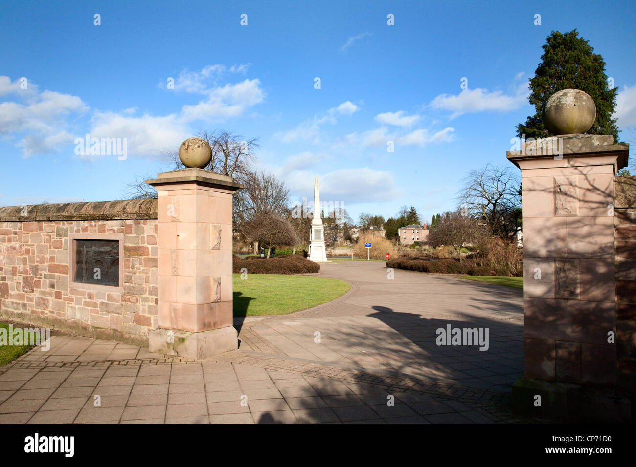 North Inch and 90th Light Infantry Perthshire Volunteers Memorial Perth Perth and Kinross Scotland - Stock Image