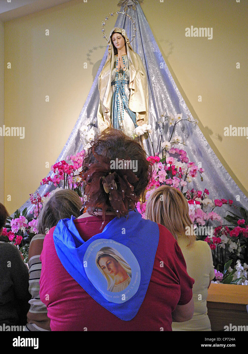Europe Bosnia and Herzegovina Medjugorje Marian Shrine Church Interior of the Church of St. James Stock Photo