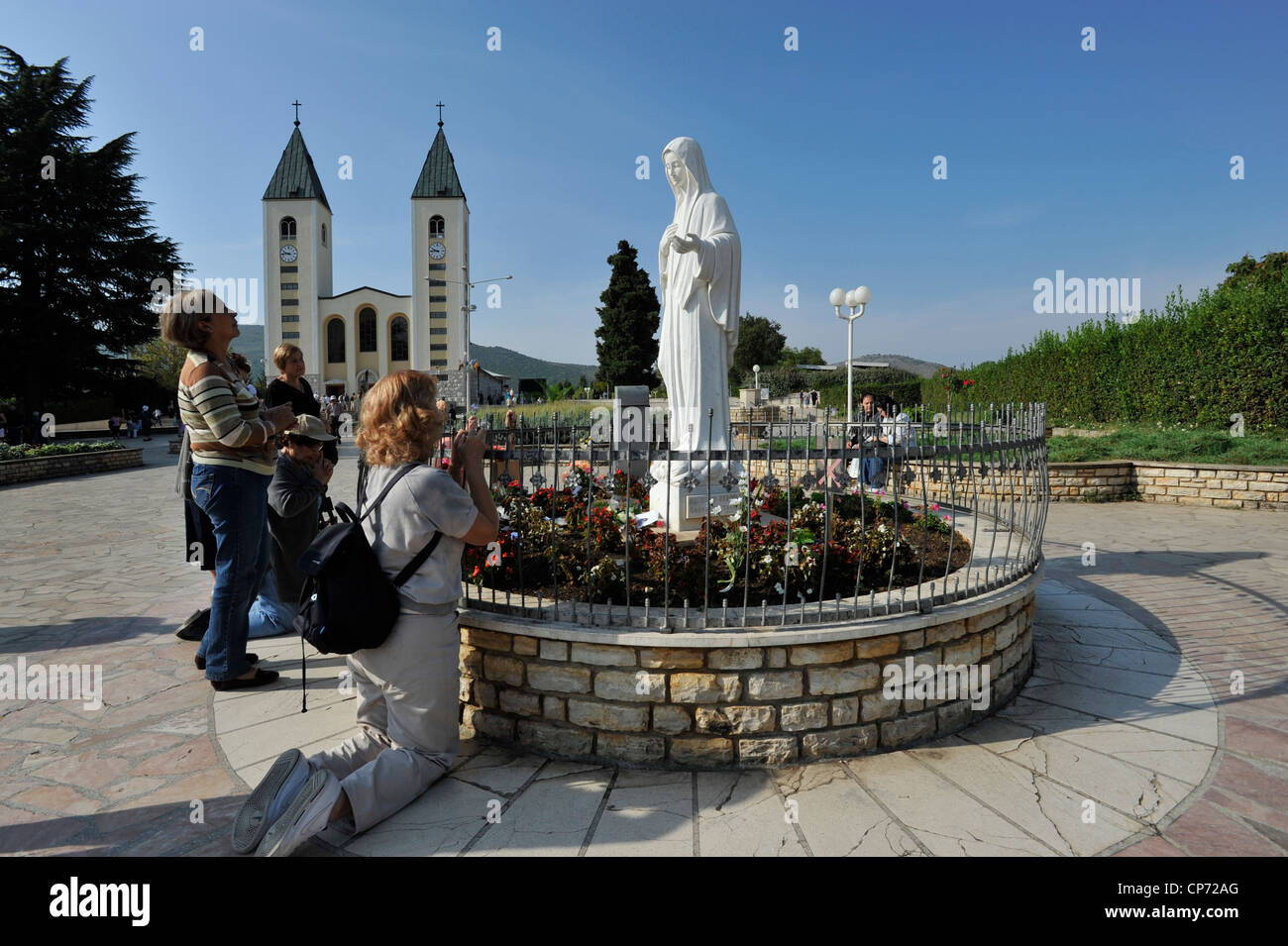 Europe Bosnia and Herzegovina Medjugorje Apparition Hill One of the places of the apparition - Stock Image